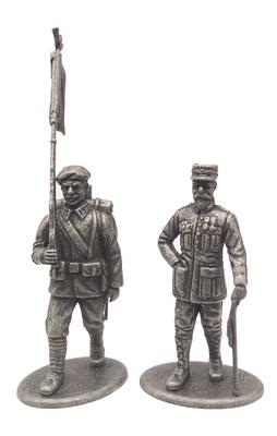 General de División Henri Goraud y Cazador Alpino porta estandarte, Francia, 1918, 1:24, Atlas Editions