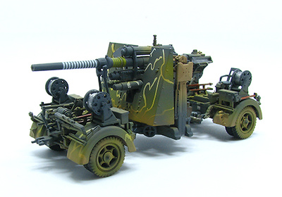 German 88mm Flak 36 Camo, 1942, 1:72, PMA