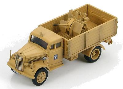 German Cargo Truck with 20mm Flak 38 DAK, WWII, 1:72, Hobby Master