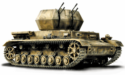 German Flakpanzer IV Wirbelwind, Normandy, 1944, 1:32, Forces of Valor