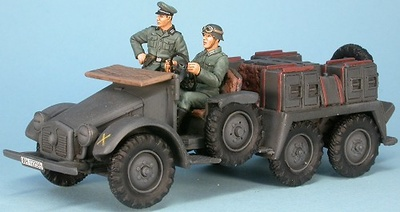 German Krupp Protze Kfz. 69 with crew for 3,7cm Pak36, 1:48, Gasoline