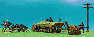 German Sd. Kfz. 251/1 and 75mm PaK 40, 1:72, Forces of Valor