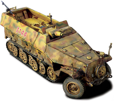 German Sd. Kfz. 251/9 Kanonenwagen, Normandía 1944, 1:32, Forces of Valor