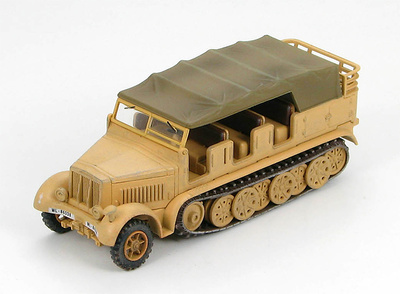 German Sd. Kfz.7 8 Ton Semi-Track Luftwaffe, Africa, 1942, 1:72, Hobby Master