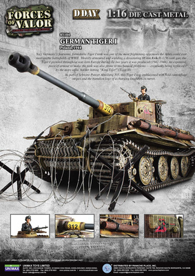 German Tiger I Ausf. E Heavy Tank, Poland, 1944, 1:16, Forces of Valor