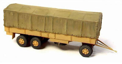 German Trailer, 3 Ejes, 1:72, Wespe Models