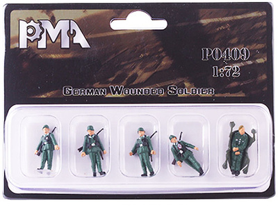 German soldiers with wounded, World War II, 1:72, PMA