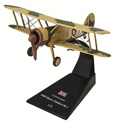 Gloster Gladiator Mk1 , Gran Bretaña, 1940, 1:72, Amercom