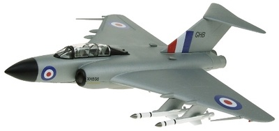 Gloster Javelin FAW9 11 Squadron 'GHB' RAF Binbrook, Silver Livery XH898, 1:72, Sky Guardians Europe