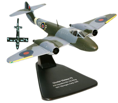 """Gloster Meteor más V-1 """"Doodlebug"""" Flying Bomb, 1:72, Oxford"""