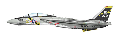 "Grumman F-14A BuNo 160393/AJ 200, VF-84 ""Jolly Rogers"" US NAVY, 1977, VF-31 Sept '05-MAR.'06, Final Cruise ""Christine"", 1:72, Hobby Master"