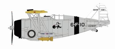Grumman F3F-1 0239, VF-6B, década de los 30, 1:48, Hobby Master