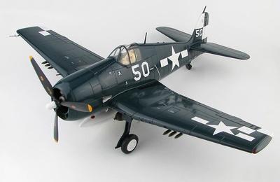 """Grumman F6F-5 Hellcat """"Jolly Rogers"""" White 50, VF-17, USS Hornet, 1945, 1:32, Hobby Master"""