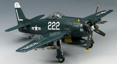 Grumman F8F-2 Bearcat SM1008  VF-72, BuNo 121546, Leyte,  Phillipines, 1954, 1:72, SkyMax