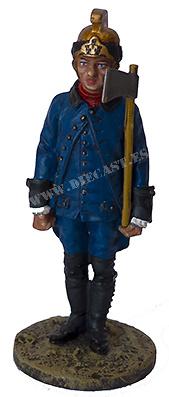 Guarda Bomba con traje ignífugo, París, 1786, 1:30, Del Prado