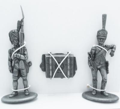 Guardia de Granaderos a Pie, Portador de Equipaje del Emperador, Caja de las Pertenencias del Emperador, 1:24, Atlas Editions