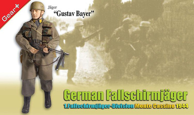"""Gustav Bayer"", German Fallschirmjager, 1.Fallschirmjager Division, Monte Cassino 1944 , 1:6, Dragon Figures"