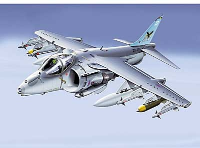 HARRIER  GR MK7, BLUE TAIL, 1:48, Franklin Mint