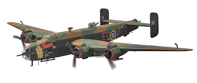 Handley Page Halifax B.VII, PN230/EQ-V 'Vicky The Vicious Virgin', RAF No.408 'Goose' Squadron (RCAF) Group, Linton-on-Ouse, 1945, 1:72, Corgi