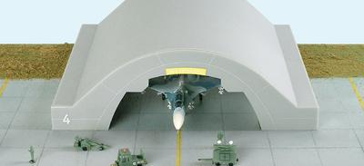 Hangar II, para cazas largos,  SU-27, F-14, etc., 1:200, Herpa