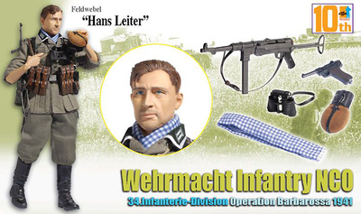 """Hans Leiter"", Wehrmacht Infantry NCO, 34.Infanterie-Division, Operation Barbarossa, 1941 (Feldwebel), 1:6, Dragon Figures"