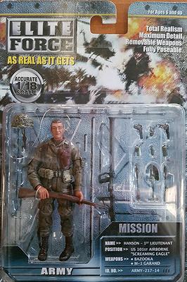 Hanson, 1º Teniente, 101 División Aerotransportada, 2ª G.M., 1:18, Elite Force