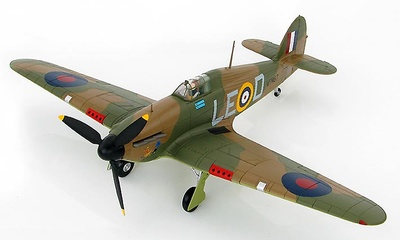 Hawker Hurricane I LE-D, Sqn Ldr Douglas Bader,  No 242 Sqn., Coltishall, Septiembre, 1940, 1:48, Hobby Master