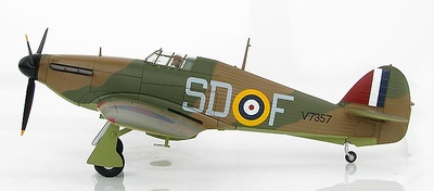 "Hawker Hurricane I SD-F, Sergeant James ""Ginger"" Lacey, No. 501 Sqn., Gravesend, Septiembre, 1940, 1:48, Hobby Master"