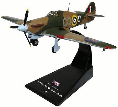 Hawker Hurricane Mk IIB, 1:72, Amercom