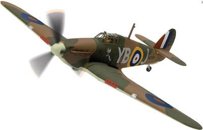 Hawker Hurricane Mk.1, 'Winged Popeye', Debden, 1940, 1:72, Corgi