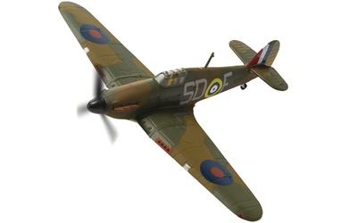 """Hawker Hurricane Mk.I V7357/SD-F, Sgt. J.H """"Ginger"""" Lacey, RAF No.501 Squadron, Gravesend, 1940, 1:72, Corgi"""