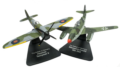 "Hawker Tempest + Messerschmidt Me262, ""Defensa de Alemania"", 1:72, Atlas"