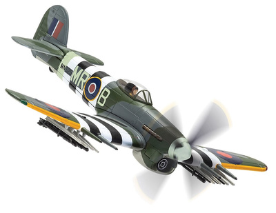 Hawker Typhoon Mk.IB MN625/MR-B, RAF No.245 Squadron, Aeródromo Holmsley South, Hampshire, Junio 1944, 1:72, Corgi