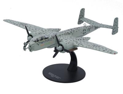 """Heinkel HE 219 A-O """"Uhu"""", piloto Werner Streib, Alemania, 1943, 1:72, Atlas"""