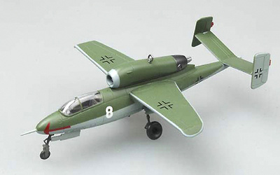 Heinkel HE162 A-2 1/JG1, Leck Airfield, Germany, May 1948, 1:72, Easy Model
