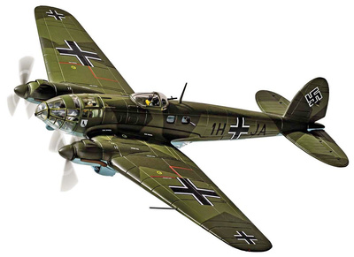 Heinkel He111 H-2 1H+JA, Stab./KG26, 28th October 1939, 'The Humbie Heinkel', 1:72, Corgi