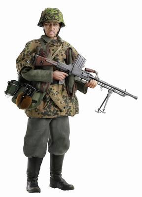 """Heinrich Sager"" (Tirador) Totenkopf Light Machine Gunner, Totenkopf Division, Francia, 1940, 1:6, Dragon Figures"