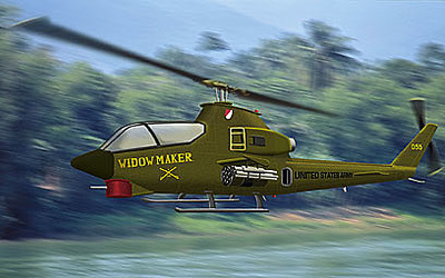 "Helicóptero AH-1 G Cobra, ""Widow Maker"", U.S. Army, Vietnam 1971, 1:48, Franklin Mint"