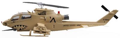 "Helicóptero AH-1F,""Sand Shark"", Operación Desert Storm, 1991, 1:72, Easy Model"