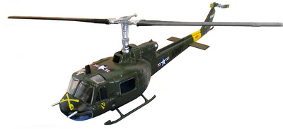 Helicóptero Bell UH-1 Iroquois,S USA, 1:72, Altaya