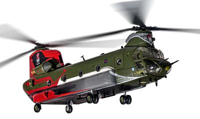Helicóptero Boeing Chinook HC.4 ZA712, RAF No.18 (B) Squadron, 100 Años de la RAF, 1:72, Corgi