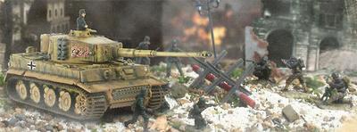 Henschel Sd.Kfz.181 Tiger I, #222, Normandy, France, D-Day, 1:72, Forces of Valor