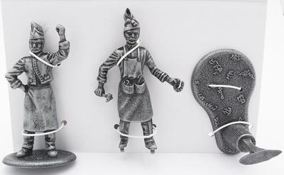 Herrero con Yunque, Martillo y Herradura ,Ayudante de Herrero, 1:24, Atlas Editions