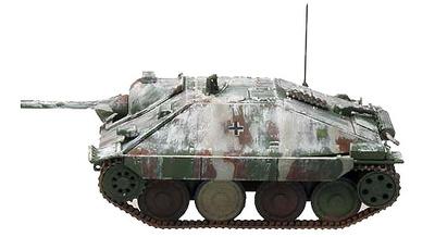 Hetzer (Flamm) 17.SS PD, Operation Nordwind, 1941, 1:72, Panzerstahl