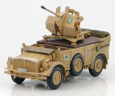 Horch 1a with 20mm Flak 38 Dak, 1941, 1:72, Hobby Master
