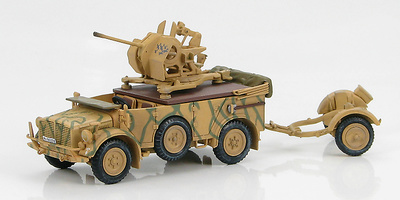 Horch 1a with 20mm Flak 38 European Theatre, WWII , 1:72, Hobby Master