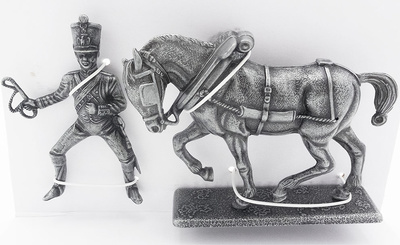 Horse of the Right Front of Artillery, Artillery Rider, 1:24, Atlas Editions
