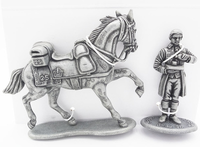 Horse of the Sergeant of the 25th Line Dragons Regiment, House Helper of the Imperial Houses, 1:24, Atlas Editions