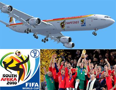 IBERIA A340-600 ?Campeones del Mundo? (EC-LEV), 1:400