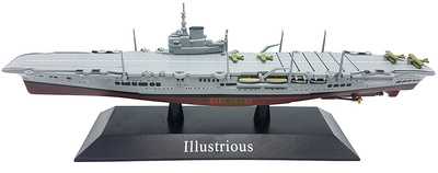Illustrious aircraft carrier, British Royal Navy, 1940, 1: 1250, DeAgostini
